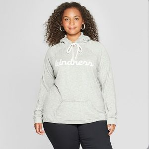 NWT Grayson Threads Grey Kindness Graphic Hoodie